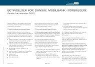 DB0087 Betingelser for Danske Mobilbank forbrugere - Danske Bank