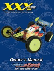 Losi XXX-CR Manual - Robitronic