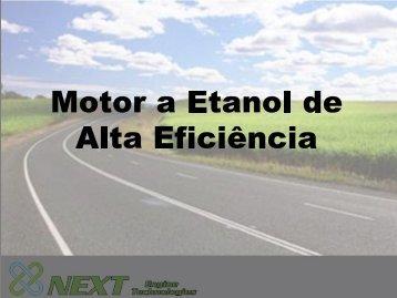 Motor a Etanol de alta eficiência - ABVE