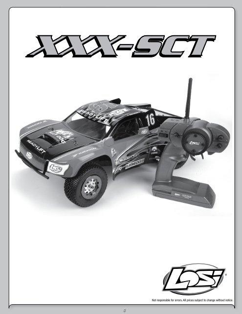 Losi Front Shock Tower XXX-T XXX-NT XXX-SCT Horizon Hobby LOSA1109