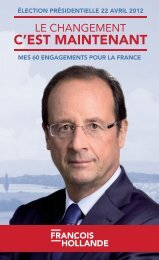 les-60-engagements-pour-la-france-de-francois-hollande - Le Monde