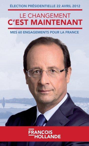les-60-engagements-pour-la-france-de-francois-hollande - Le Monde