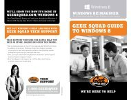 Geek squad Guide to WindoWs 8