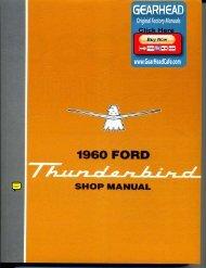 DEMO - 1960 Ford Thunderbird Shop Manual - ForelPublishing.com