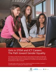 Girls in STEM and ICT Careers: The Path toward Gender Equality - wil