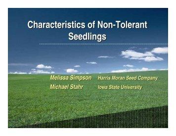 Classifying Tolerant & Non-tolerant Seedlings