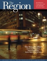 The Stimulus Effect - Metropolitan Washington Council of ...