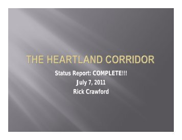 Norfolk Southern Heartland Corridor Rail Project