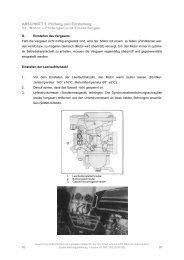 3-1. Motor – Prüfungen und Einstellungen - XS 500
