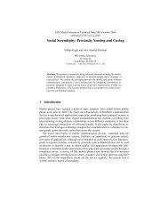 Social Serendipity: Proximity Sensing and Cueing - Human ...