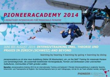 Infos / Flyer - Pioneer-Academy