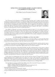 Effective Countermeasures against Money Laundering in Thailand