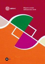 Bilancio sociale 2008 - Università degli Studi di Macerata
