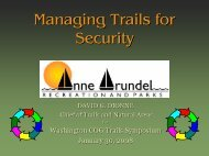 Managing Trails for Security