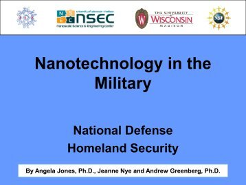 Nanotechnology in the Military - Institute for Chemical Education