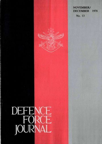 ISSUE 13 : Nov/Dec - 1978 - Australian Defence Force Journal