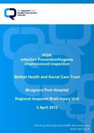 Musgrave Park Hospital, Belfast - Regulation and Quality ...