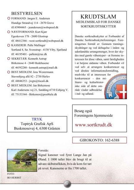 29. ÅRGANG - Forbundet Af Danske Sortkrudtskytteforeninger