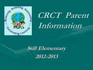 CRCT Frequently Asked Questions