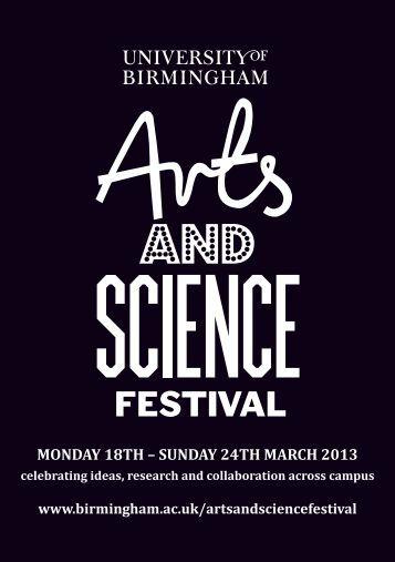 UoB Arts & Science Festival - University of Birmingham