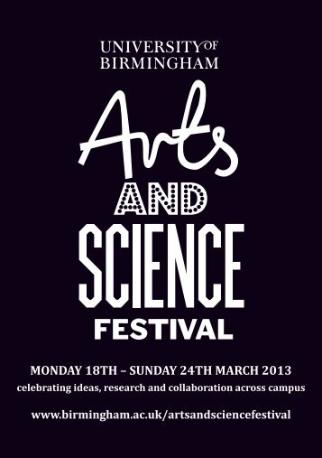 UoB Arts & Science Festival - University of Birmingham