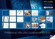 Professional 100v Line Loudspeaker Solutions - CIE-Group