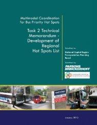 Task 2 Memo Bus Hot Spots Study - Top 15 Lists
