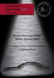 Bone Management® Road Show 2009 - International Bone ...