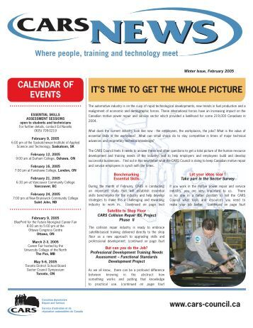 CARS NEWSLETTER - Automotive Industries Association of Canada