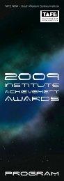 IAA Program 2009 - South Western Sydney Institute - TAFE NSW
