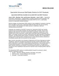 Spectralink Announces Staff Safety Solution for Wi-Fi ... - Wavelink