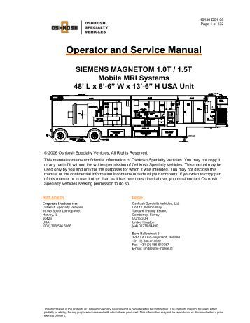 Operator's Manual - Oshkosh Specialty Vehicles
