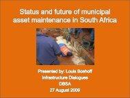 Status and future of municipal asset maintenance in ... - Business Trust
