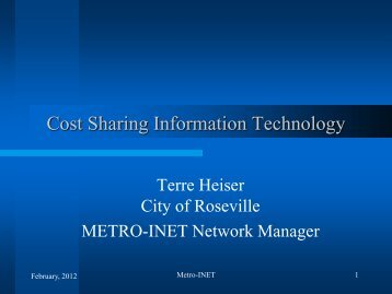 Cost Sharing Information Technology - Anoka County, Minnesota