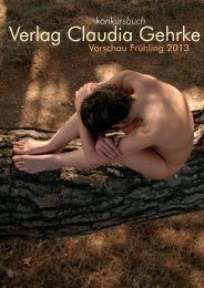 Frühjahr 2013 - konkursbuch Verlag Claudia Gehrke
