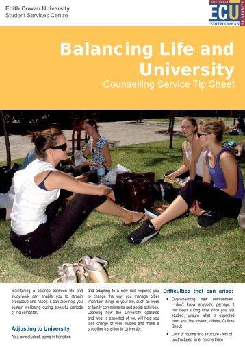 Balancing Life and University - Edith Cowan University