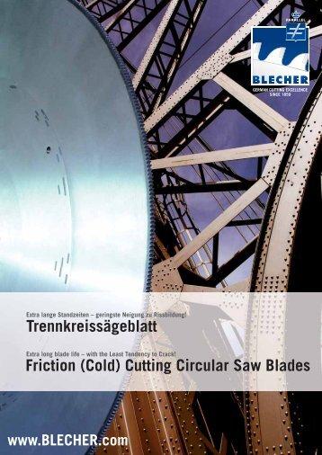 Friction (Cold) Cutting Circular Saw Blades Trennkreissägeblatt