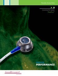 Titan Port Promotional Literature - AngioDynamics
