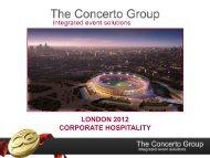 LONDON 2012 CORPORATE HOSPITALITY