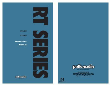 RT600i RT800i Manual - Polk Audio
