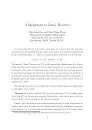 A Supplement to James' Theorem