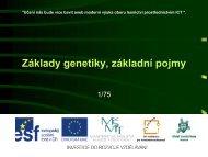 Základy genetiky, základní pojmy - Projekt EU