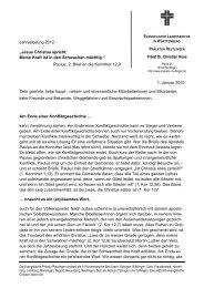 Neujahrsbrief 2012 von Prälat Prof. Dr. Christian Rose