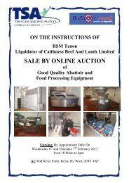 SALE BY ONLINE AUCTION - Pro Auction