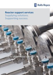 Reactor support services Supplying solutions ... - Rolls-Royce
