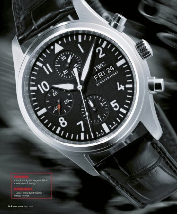 WT_2007_02: COMPARATIVE TEST: IWC PILOT'S WATCHES