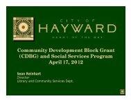Community Development Block Grant (CDBG ... - City of HAYWARD