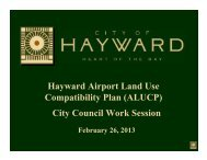 Hayward Airport Land Use Compatibility Plan ... - City of HAYWARD