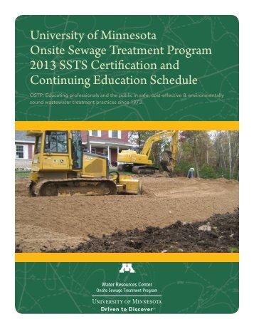 brochures - Onsite Sewage Treatment Program - University of ...