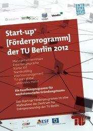 Start-up + - Gründungsservice - TU Berlin